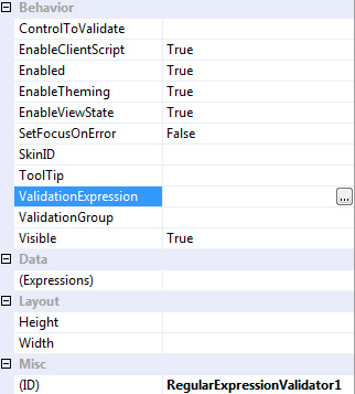 VS 2008 Regular Expression Editor