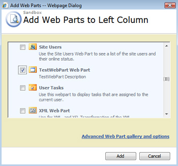 Add Web Part
